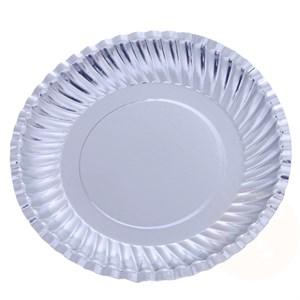 10 cái dĩa giấy Hunufa phủ bạc 40 cm