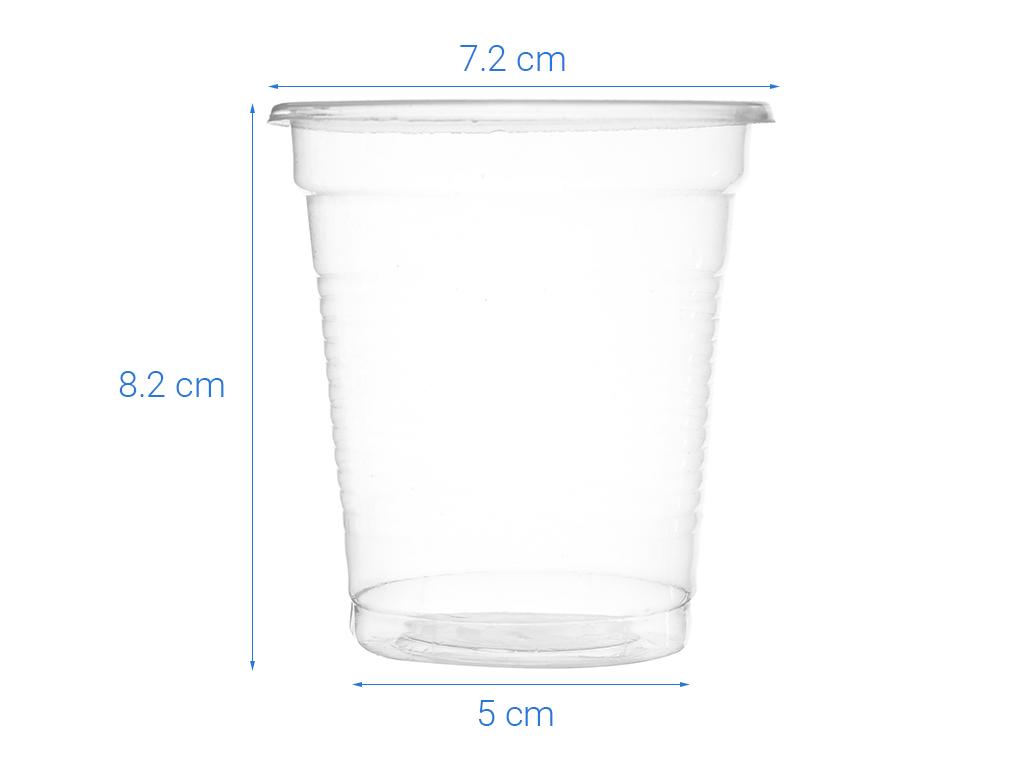 Ly nhựa PP trong suốt Hunufa 190ml (20 cái) 5