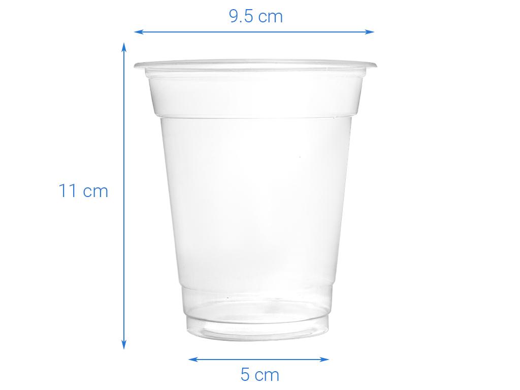 10 ly nhựa PP trong suốt Hunufa 400ml 3