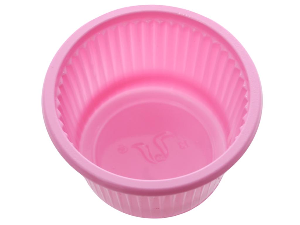 20 chén chấm nhựa PP Hunufa màu hồng 5cm 3