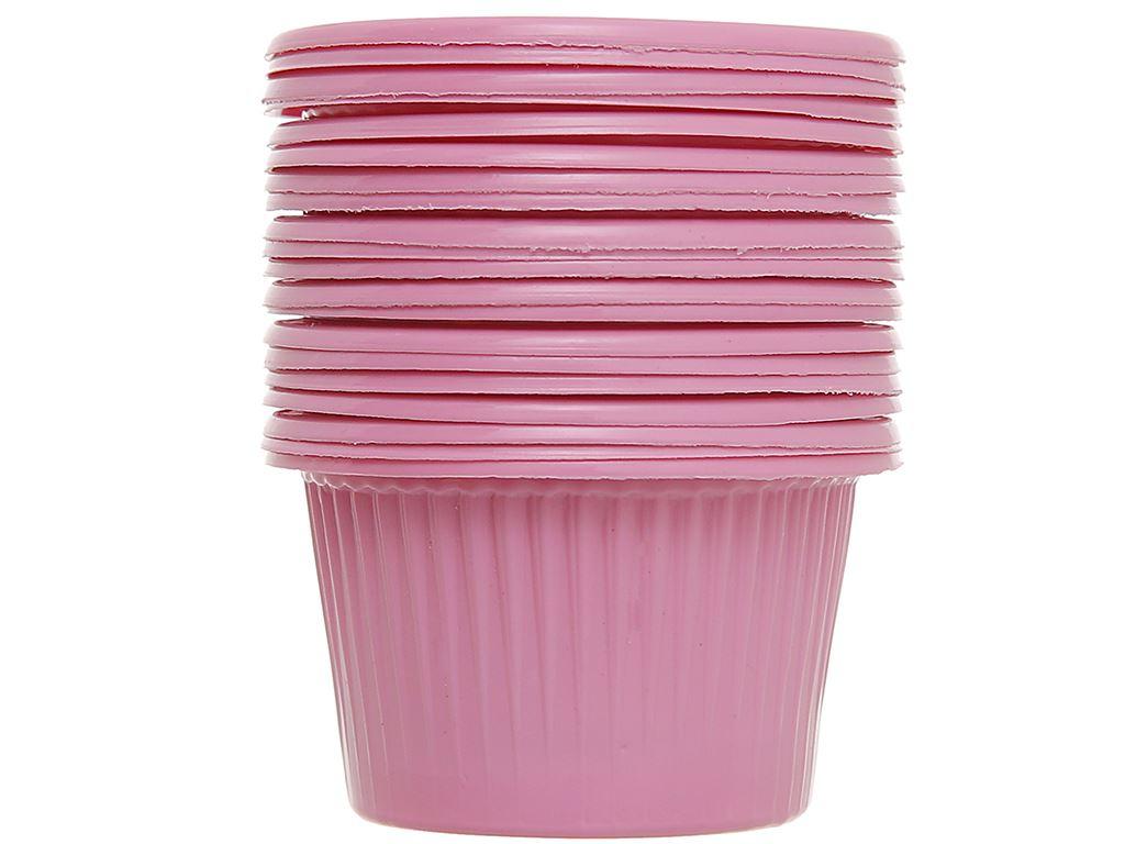 Chén đựng nước chấm nhựa PP màu hồng Hunufa 5cm (20 cái) 1