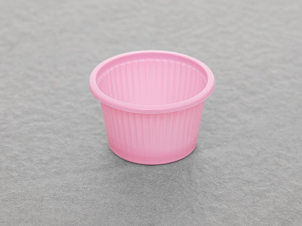 Chén đựng nước chấm nhựa PP màu hồng Hunufa 5cm (20 cái) 3