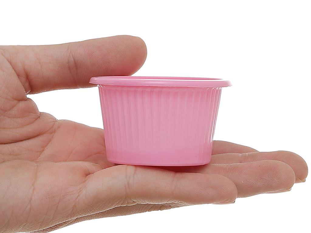 Chén đựng nước chấm nhựa PP màu hồng Hunufa 5cm (20 cái) 4