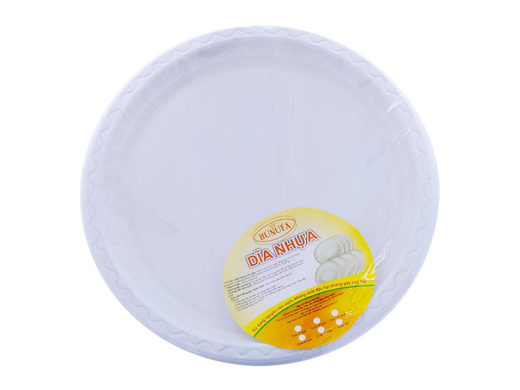 20 dĩa nhựa PS tròn Hunufa 31.5cm 2
