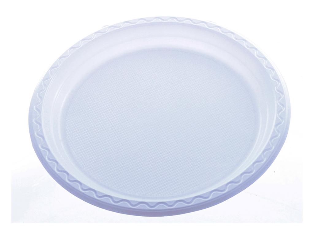 10 dĩa nhựa PS Hunufa tròn 31.5cm 3