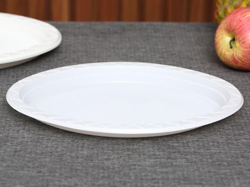 10 đĩa nhựa PS Hunufa kiểu oval 31.5cm 1