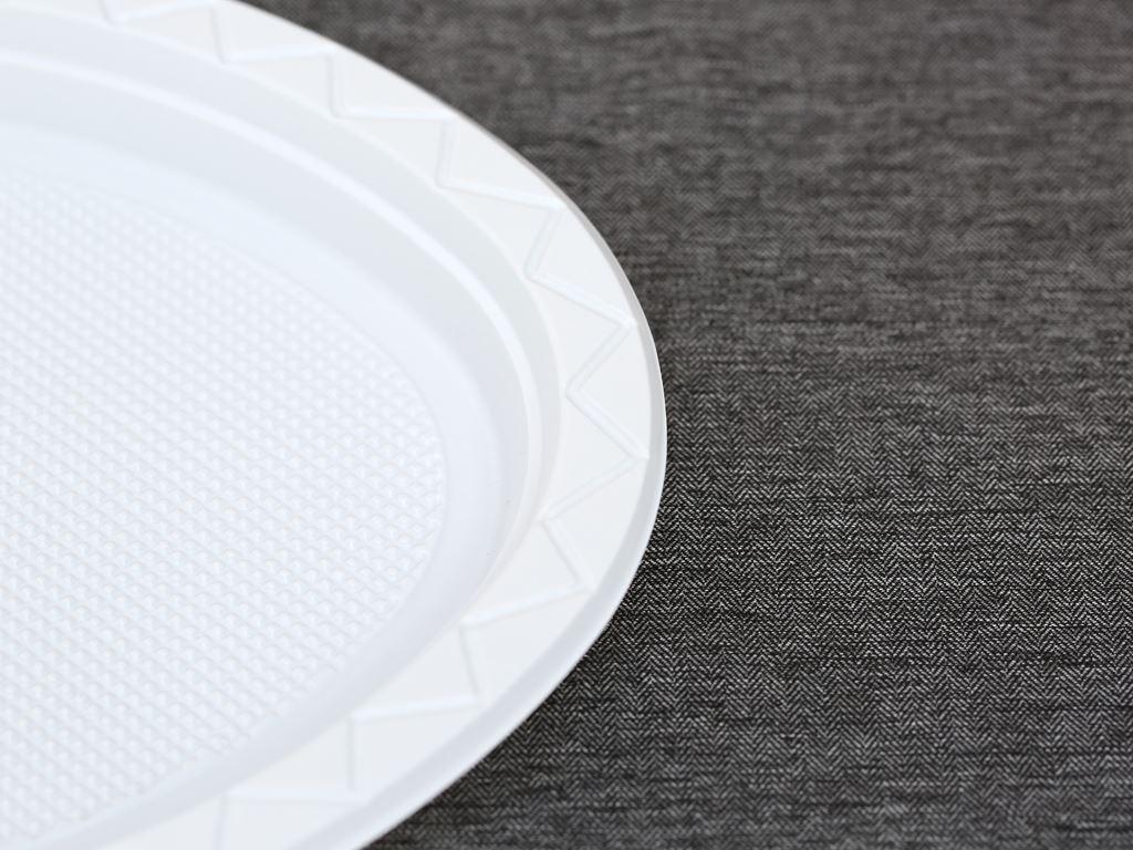 10 đĩa nhựa PS Hunufa kiểu oval 31.5cm 2