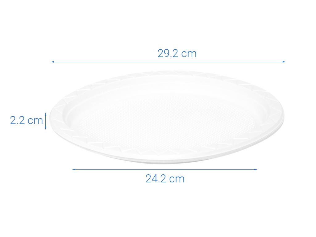 10 đĩa nhựa PS Hunufa kiểu oval 31.5cm 7