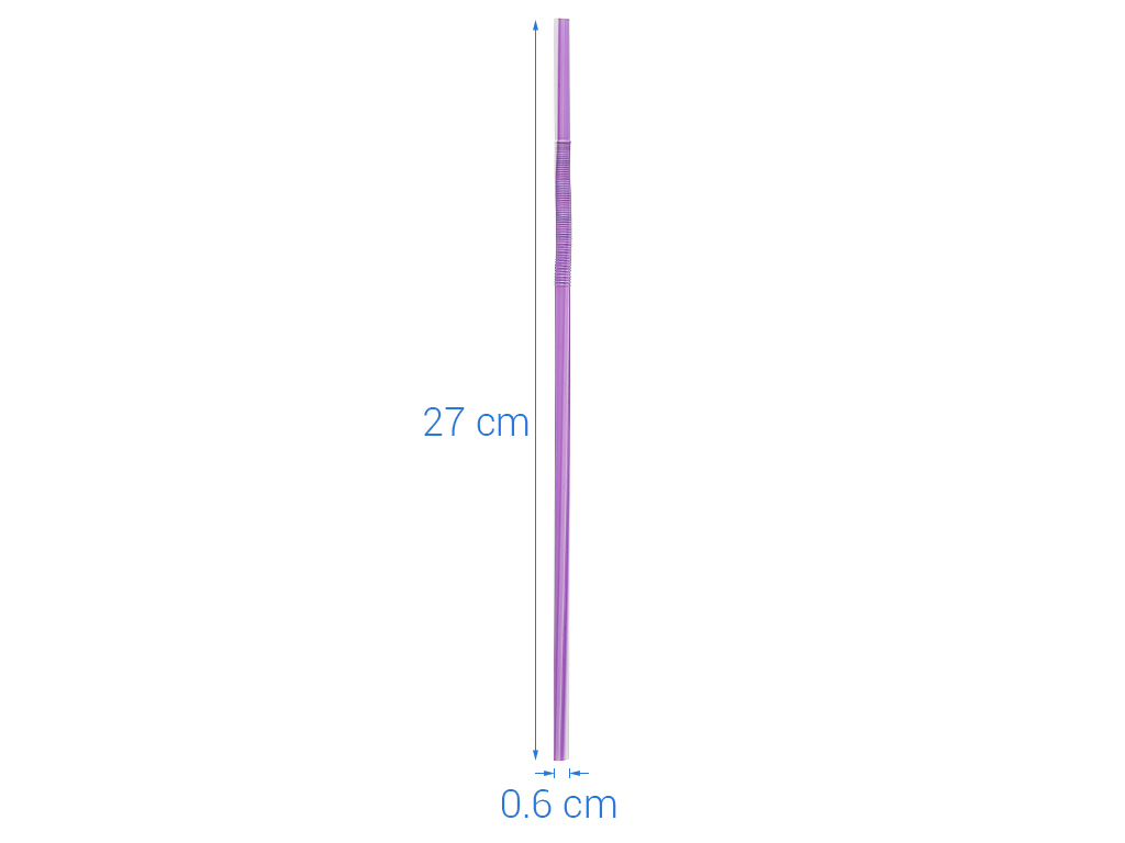 Ống hút nhựa PP cong Hunufa 30cm (50 cái) 6