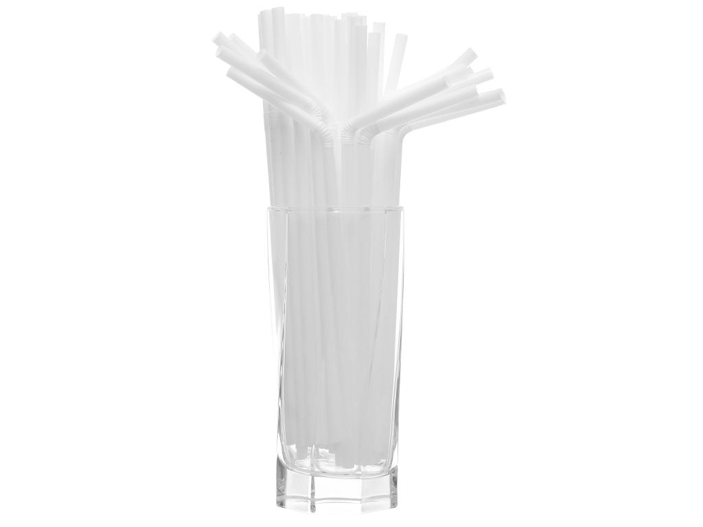 Ống hút nhựa cong Hunufa 20cm (80 cái) 3