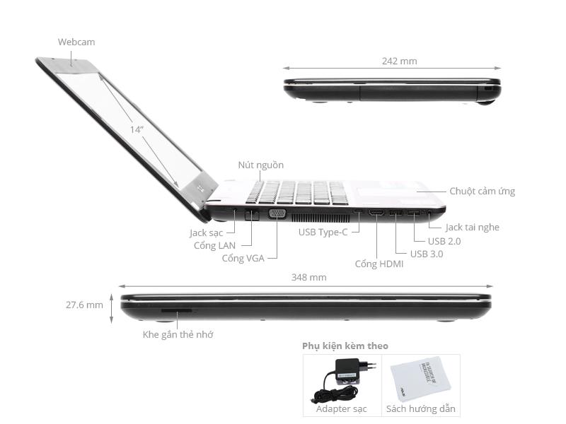 Laptop Asus X441NA Gia Tot Co Tra Gop