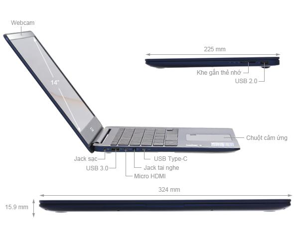 ASUS ZenBook UX430UA: Core i5 7200u/8G/256G SSD/14in FullHD bán rẻ !!! - 4