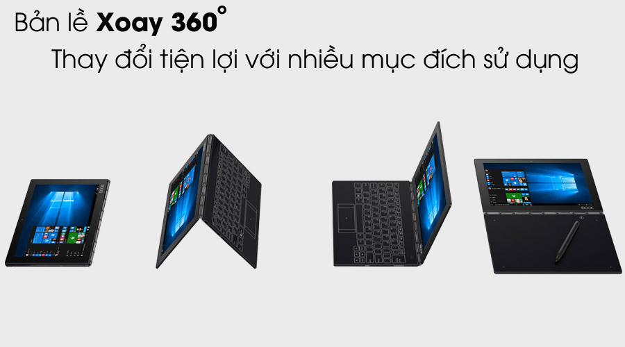 So sánh chi tiết Laptop enovo Yoga Book Atom x5-Z8550 với