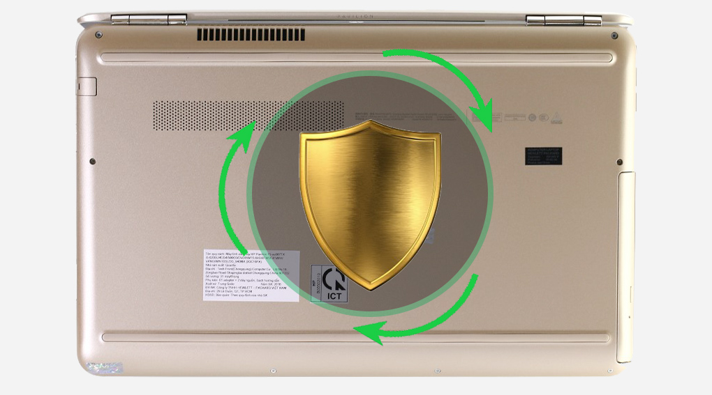 HP Pavilion 15 au120TX - Bảo vệ máy tốt hơn với công nghệ HP ProtectSmart