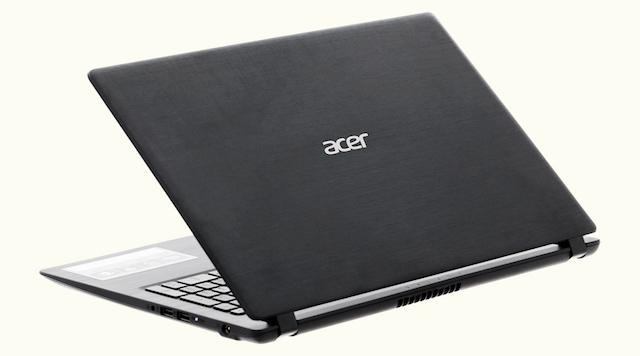 Acer Aspire A315 51 52AB - Vỏ máy dạng xước ngang dọc quen thuộc của hãng Acer