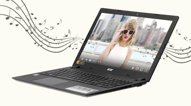 Acer Aspire A315 51 52AB - Nghe nhạc cực đỉnh với công nghệ âm thanh độc quyền TrueHarmony