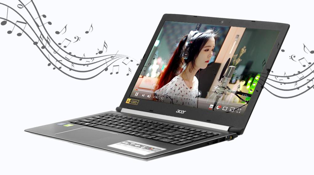 Acer Aspire A515 51G 52ZS - Nghe nhạc cực đỉnh với công nghệ âm thanh độc quyền TrueHarmony