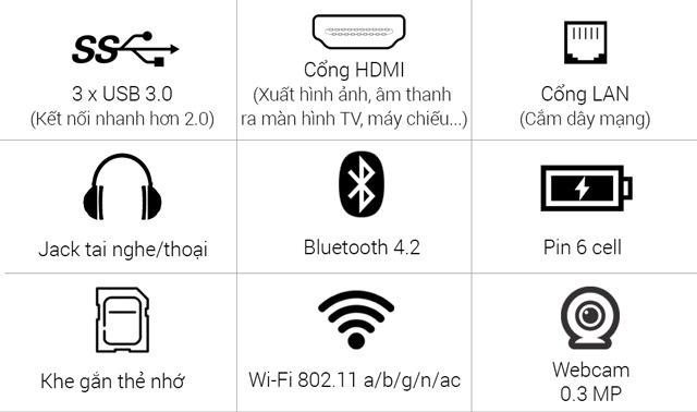 Dell Inspiron 7567B i7 cổng kết nối đa dạng, hiện đại
