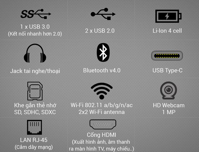 Acer Nitro 5 AN515 51 739L i7 7700HQ- Cổng kết nối