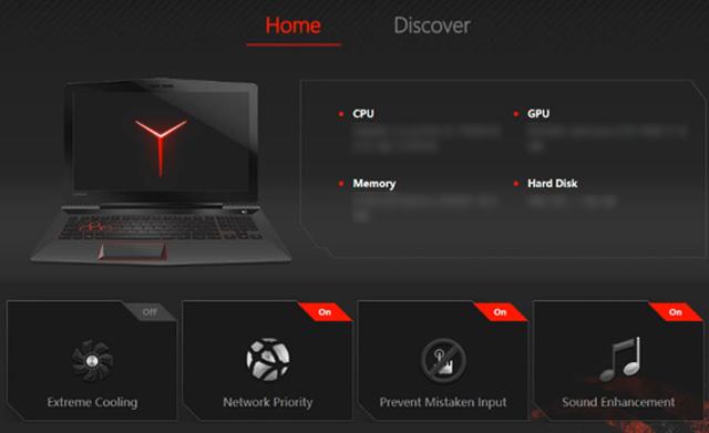 Tối ưu hệ thống chơi game với Lenovo Nerve Sense trên laptop gaming Lenovo Legion Y520 15IKBN