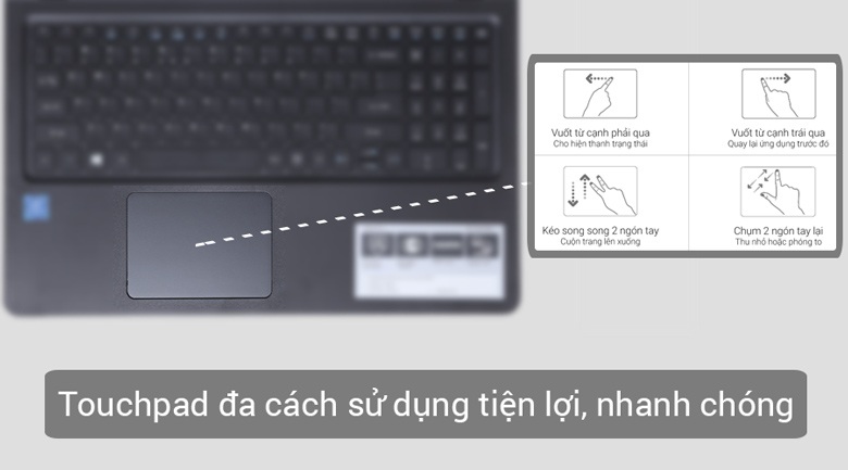 Touchpad đa dạng cách sử dụng