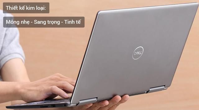 Thiết kế tinh tế và gọn nhẹ trên laptop doanh nhân Dell Inspiron 7373 i7 8550U