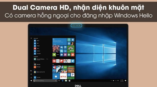 Mở khóa nhanh bằng khuôn mặt trên laptop doanh nhân Dell Inspiron 7373 i7 8550U