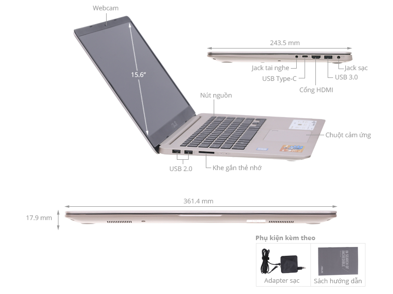 ASUS S510UQ: Core i7 7500u/8G/1T/15in FullHD/VGA 2G 940M, còn BH 5th ! - 4