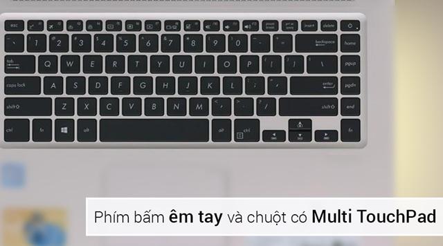 Bàn phím, chuột trên Asus S510UA i3 7100U như thế nào?