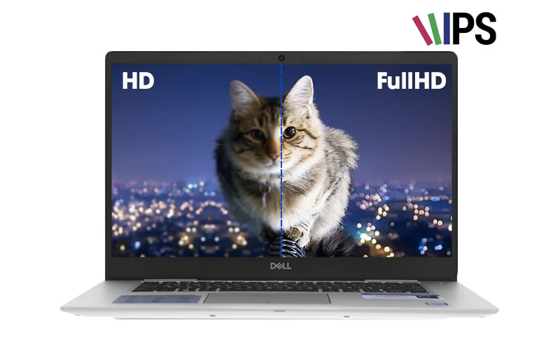 Màn hình rộng, sắc nét trên laptop doanh nhân Dell Inspiron 7570