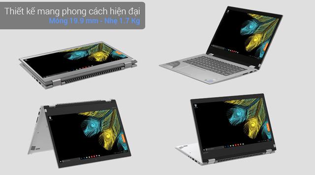 Thiết kế xoay 360 độ của laptop 2 trong 1 Lenovo Yoga 520