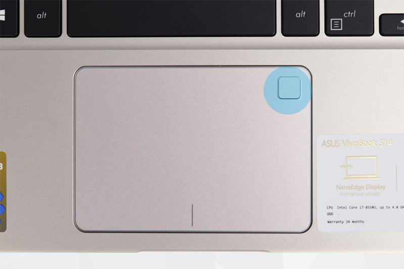 Máy tính xách tay Asus S410UA - Bảo mật vân tay | Thegioididong