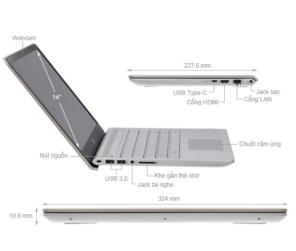 HP Pavilion 14-bf034TU: Core i3 7100u/4G/1T/14in Full HD, còn BH 4th ! - 2