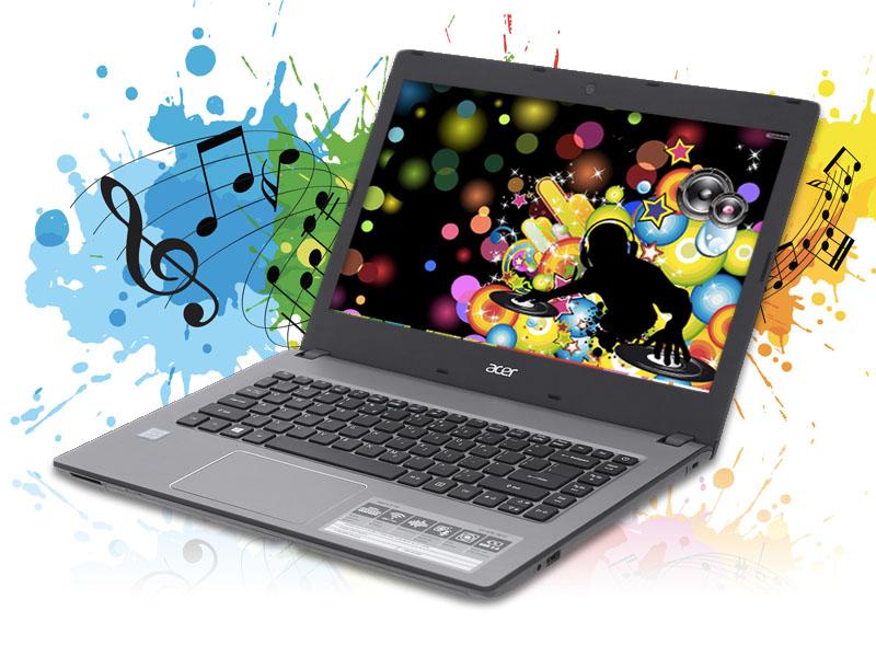 Âm thanh to, rõ trên máy tính văn phòng Acer Aspire E5 476 i3 8130U