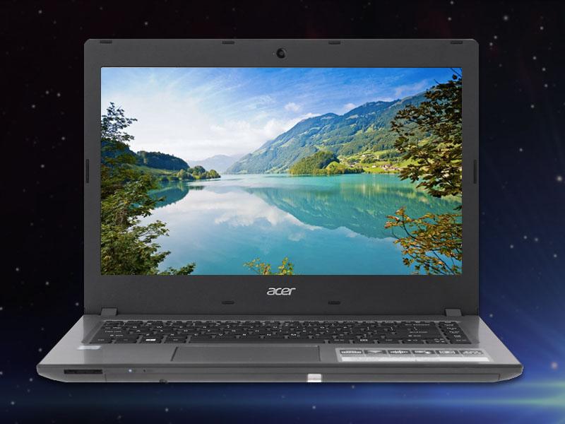Màn hình tươi sáng trên máy tính văn phòng Acer Aspire E5 476 i3 8130U
