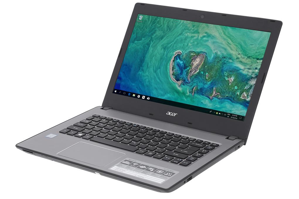 Thiết kế đơn giản trên laptop giá rẻ Acer Aspire E5 476 i3 8130U