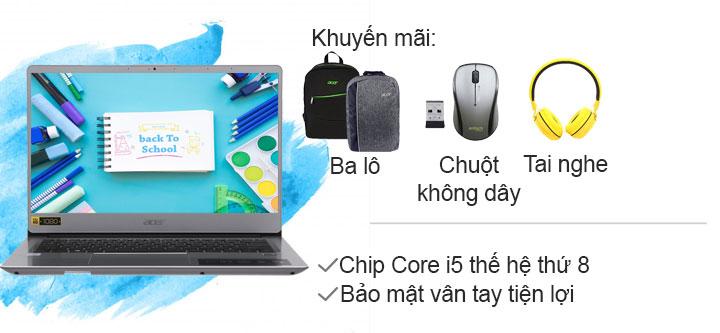 Acer Swift SF314 54 51QL i5 8250U/4GB/1TB/Win10/(NX.GXZSV.001)