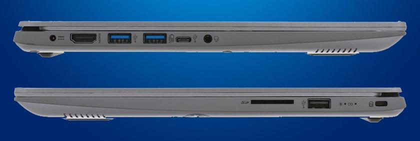 Cổng kết nối đầy đủ trên laptop nhỏ gọn Acer Swift SF314 54 51QL i5