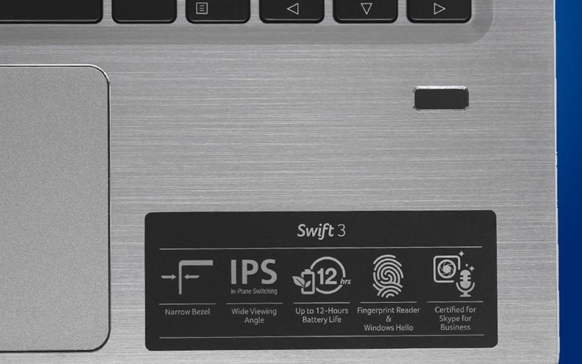 Bảo mật vân tay trên laptop nhỏ gọn Acer Swift SF314 54 51QL i5