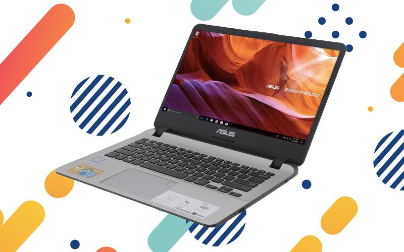 Thiết kế của laptop nhỏ gọn Asus VivoBook X407UA i3