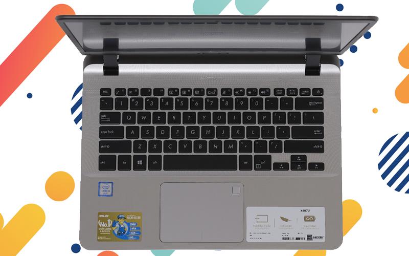 Hình ảnh bàn phím của laptop nhỏ gọn Asus VivoBook X407UA i3