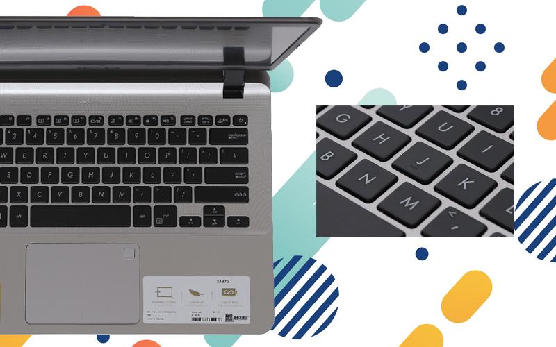 bàn phím của laptop nhỏ gọn Asus VivoBook X407UA i3