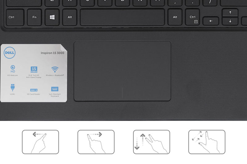 Dell Inspiron 3576 - TouchPad rộng