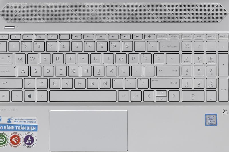 Bàn phím của laptop HP Pavilion 15 cs0018TU i5 8250U
