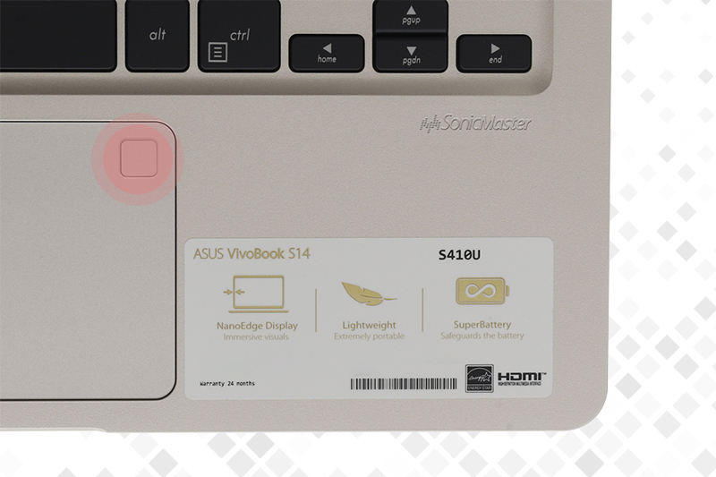 Laptop Asus S410UA i3 8130U - Bảo mật vân tay tối ưu | Thegioididong