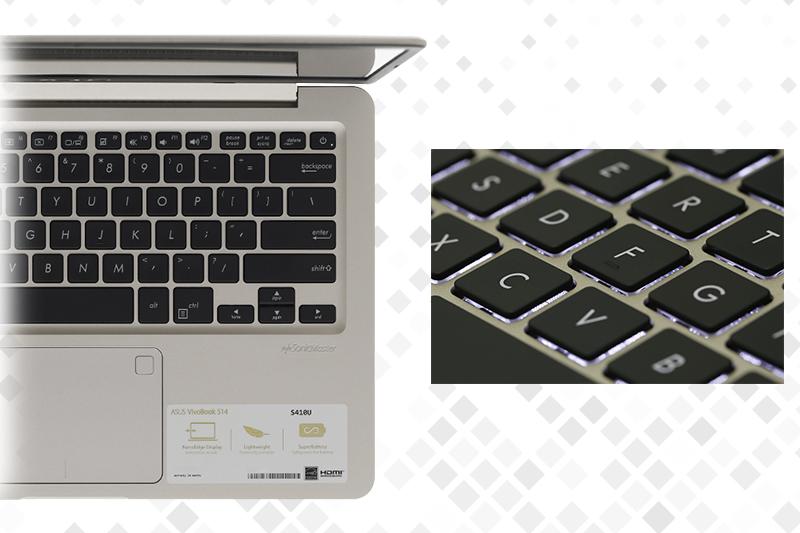 Laptop Asus S410UA i3 8130U - Bàn phím có đèn nền tiện dụng | Thegioididong