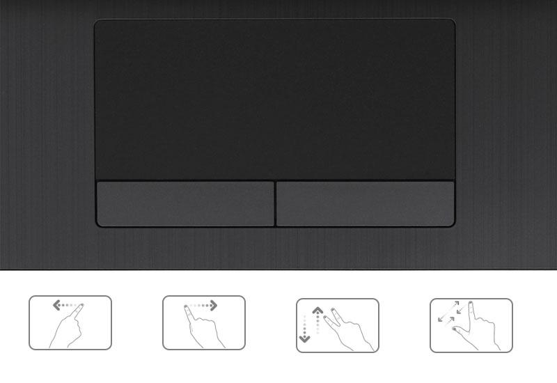 Touchpad đa dụng trên máy tính văn phòng HP 15 da0054TU i3 7020U