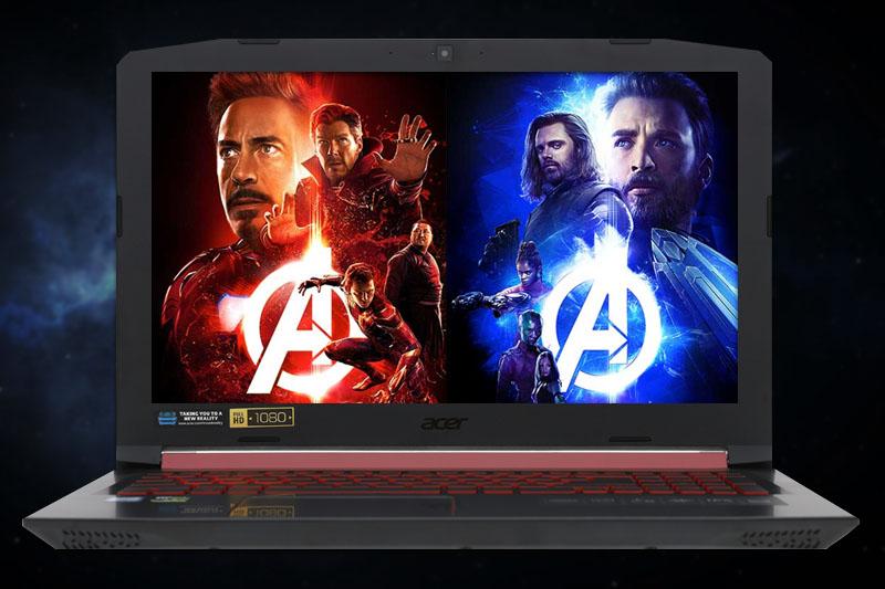 Màn hình sắc nét trên laptop gaming Acer Nitro 5 AN515 52 70AE