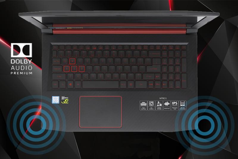 Công nghệ âm thanh Dolby Audio trên laptop gaming Acer Nitro 5 AN515 52 70AE