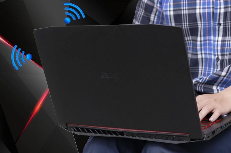 2 ăng ten bắt sóng mạnh mẽ trên laptop gaming Acer Nitro 5 AN515 52 70AE